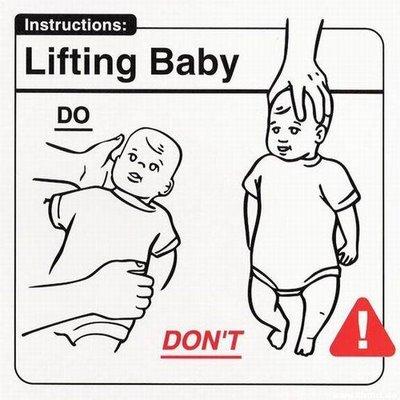 Levantado al bebé