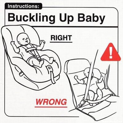 Abrochando el cinturón al bebé