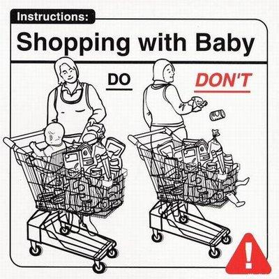 De compras con el bebé