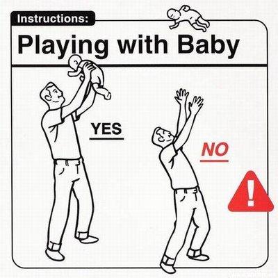 Jugando con el bebé