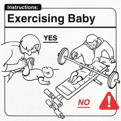 Ejercitando al bebé
