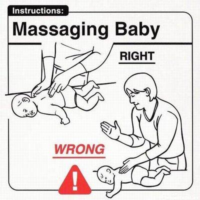 Masajeando al bebé