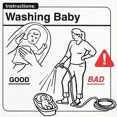 Lavando al bebé