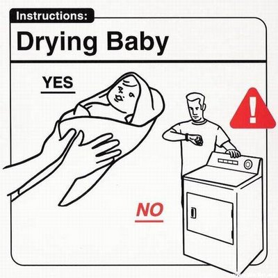 Secando al bebé