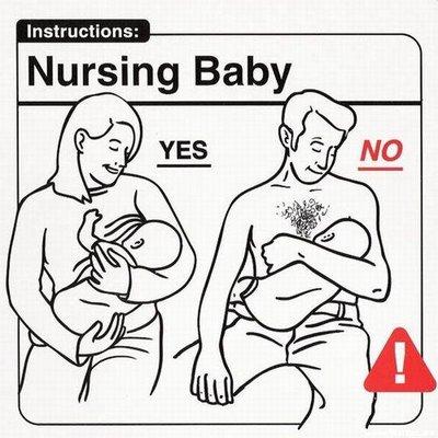 Amamantando al bebé