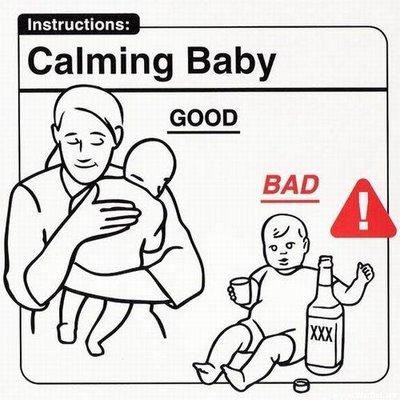 Calmando al bebé