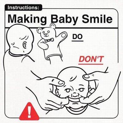 Haciendo reir al bebé