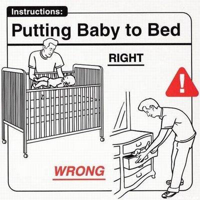 Acostando al bebé