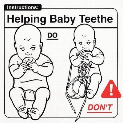 Ayudando al bebé con sus nuevos dientes