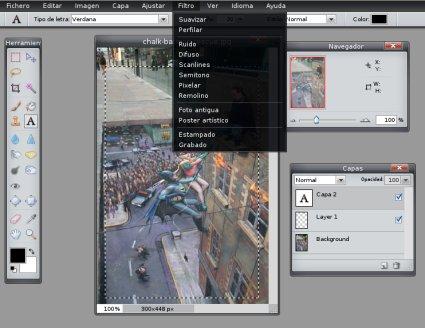 Pixlr, photoshop en una web