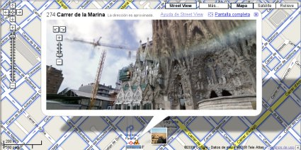 Google Maps Street View en Barcelona