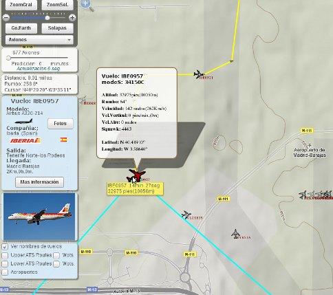 Web para localizar aviones, barcos, móviles